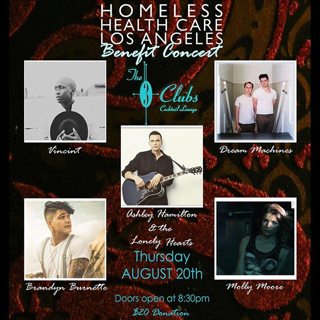 amazing show tonight at @threeclubs for a great cause. come out for good tunes and help @hhcla by donating