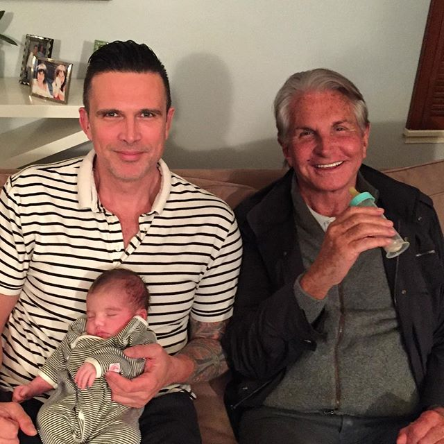 """Two men and a  "". @georgehamilton"